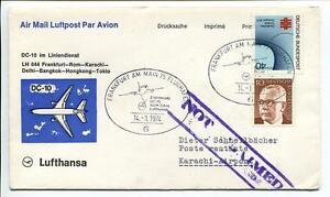 Ffc 1974 Lufthansa Primo Volo Lh 644 Dc10 Francoforte Roma Delhi Hong Kong Tokyo Sensation Confortable