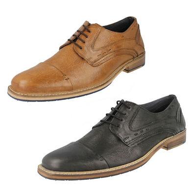 Hombre MAVERICK Cuero Con Cordones Formal Zapatos Oxford Estilo a2119