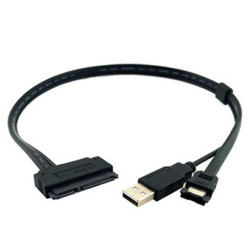 USB 2.0+eSATA to SATA 22pin HDD SSD cable adapter 0.5M  PA6106