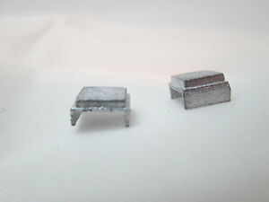 Dollhouse Miniature Unfinished Metal 144th Scale Smaller 2 Chairs #2