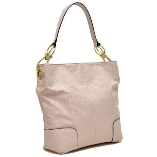 Dasein Womens Handbags Faux Leather Hobo Shoulder Bag Purses Fringe Zipper Deco