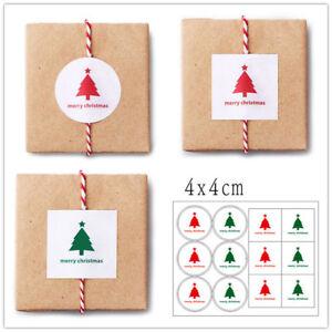 120X-Weihnachtsaufkleber-Siegel-Aufkleber-Weihnachtsbaum-Geschenk-Back-Aufkleber