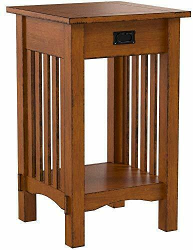 Furniture Of America Ilios Transitional 1 Drawer Two Tone End Table For Sale Online Ebay