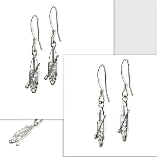 SUP Sterling Silver Earrings Ear Wire /& Studs Stand Up Paddle Board Surf Surfer