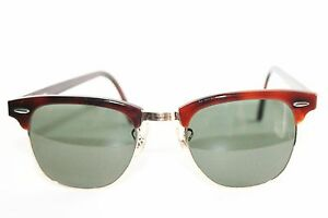 a9c6e5b223a Image is loading VINTAGE-Ray-Ban-Clubmaster-sunglasses-Bausch-amp-Lomb-