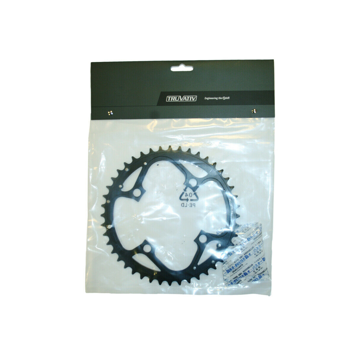 Truvativ BICICLETTA CICLO BICICLETTA CHAIN RING MTB 104 V4 in tuttiuminio 4MM Rigido Nero 44T