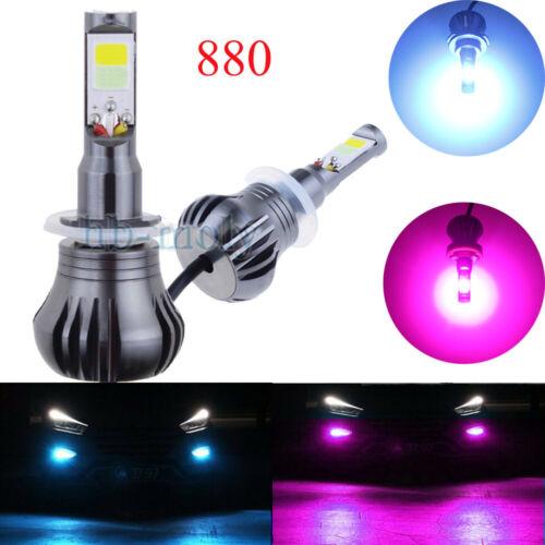 2Pcs LED 880 COB bombillas de luz Estroboscópica Parpadeante Luz Antiniebla Coche Color Dual IMPERMEABLE