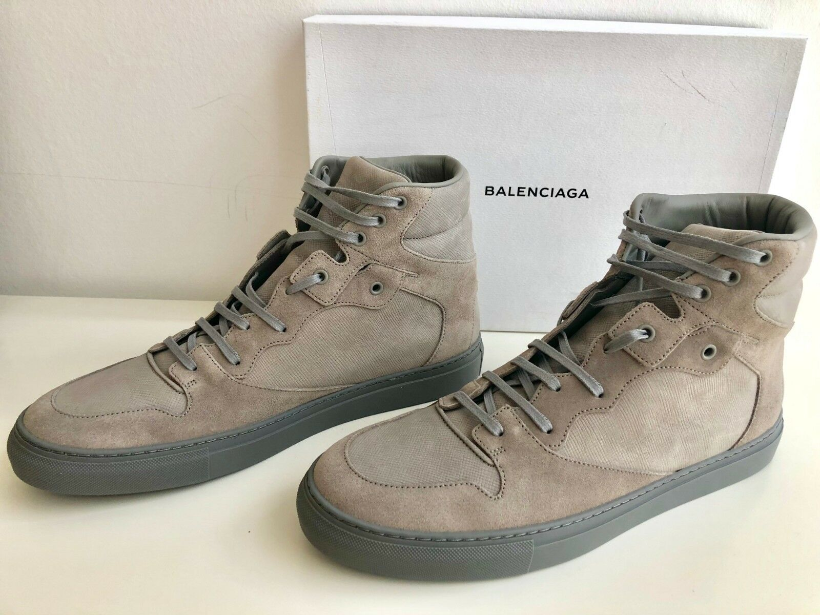SALE !!! Balenciaga High Top SNEAKERS Suede Leather Size 45 US 12