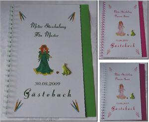 Geschenk-Schulanfang-Einschulung-1-Schultag-Gaestebuch-Maedchen-Froschkoenig