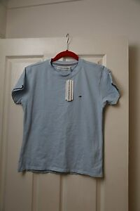 TOMMY-HILFIGER-SPORT-Women-039-s-t-shirt-blue-cotton-size-44