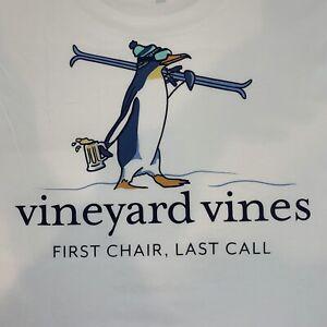 Vineyard-Vines-Mens-White-L-S-Pocket-T-shirt-Penguin-Ski-Sz-L-NEW-TAGS
