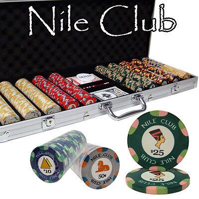 Pick Chips! New Bulk Lot 600 Nile Club 10g Casino Quality Ceramic Poker Chips