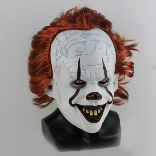 Joker Pennywise Mask Stephen King It Chapter Two 2 Cosplay Latex Scary Prop UK