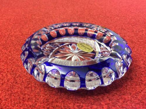Bleikristall Aschenbecher handgeschliffen mit Verpackung NEU