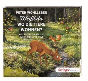 WO-DIE-TIERE-WOHNEN-EINE-ENTDECKUNGSREI-WEIsT-DU-WOHLLEBEN-PETER-2-CD-NEW