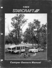 1984 Starcraft Folding Camping Popup Trailer Owners Manual