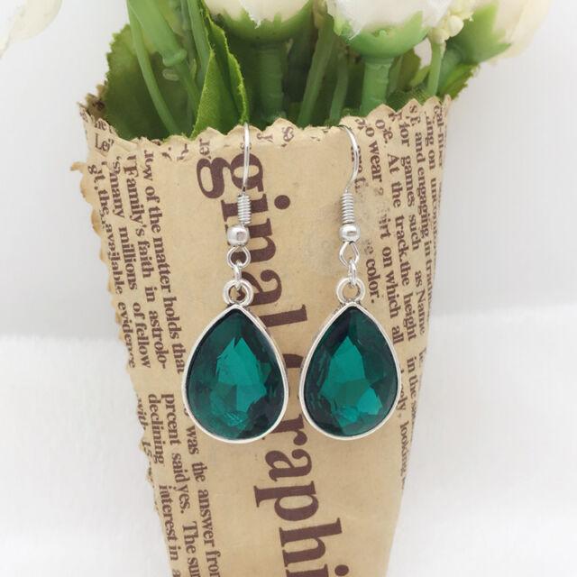 New Women Fashion Jewelry Vintage Design Silver Water drops Earrings