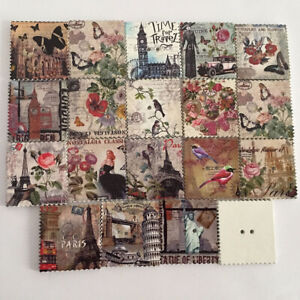 50pcs-Lot-Vintage-Wooden-Postcards-Iron-Tower-Print-Retro-Cards-Gift-Collection