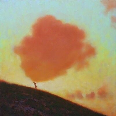 "NEW ORIGINAL MARK HARRISON ""To Touch The Sky"" Sunset Landscape Figure PAINTING"