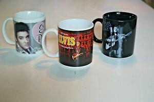 Elvis-Presley-Drei-schone-Becher-mit-Elvis-Motiv