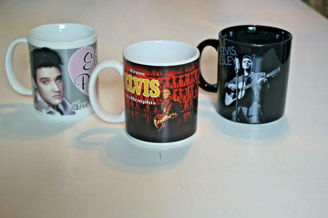 Elvis Presley - Drei schöne Becher mit Elvis-Motiv
