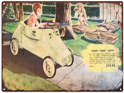 1924 Pedal Car Parts Advertising Baked Metal Repro Sign 9 x 12 60115