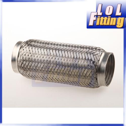 "51mm ID Exhaust Flex Pipe 8/"" Length Stainless Steel Coupling Interlock 2/"""