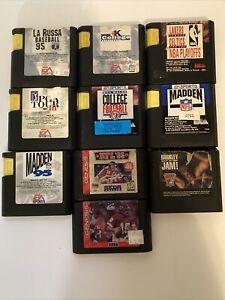 Sega Genesis 10 Sports Games Lot - Tested - Free Shipping (USA)