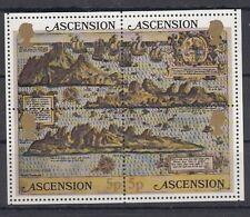 Ascension Island 1981 Bf 12 Cartina dell'Isola MNH