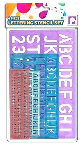 Letras de la plantilla Conjunto de 4 piezas letras del alfabeto//números//símbolos Artesanías