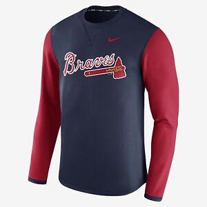 Clothing, Shoes & Accessories Atlanta Braves Baseball Club Buy Now Activewear Tops Nike Mens Long Sleeve Training Shirt Xl Slim Fit