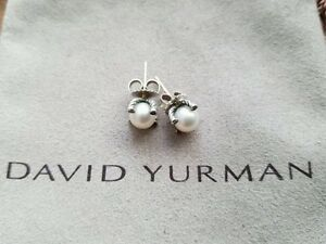 Image Is Loading David Yurman 9 5mm Pearl Stud Earrings