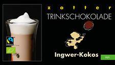 Zotter Trinkschokolade Ingwer-Kokos 5 x 22 g (100 g = 5,91 €)