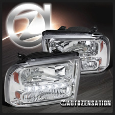 2005-2007 Ford F250/350/450/550 Super Duty 2005 Excursion Chrome LED Headlights