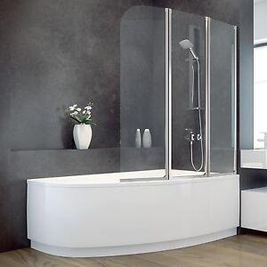 Badewanne 140x80 cm wanne badewannenabtrennung eckwanne - Duschwand badewanne ...