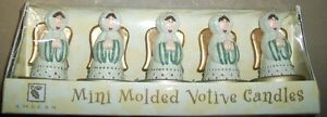 Set-of-5-Amscan-449419-Mini-Molded-Angel-Votive-Candles-New