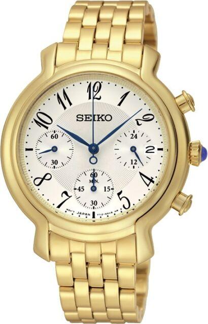 Seiko SRW874 SRW874P1 Ladies Gold Chronograph Watch RRP $595.00