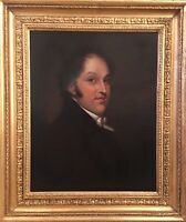 Fine Antique 19th C Portrait Of A Gentleman Oil Painting