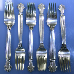 Georg-Jensen-Acanthus-Sterling-Silver-81pc-Silverware-Service-for-12-w-Extras