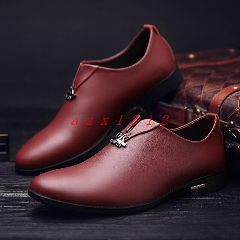 New Men Pointy Toe Slip on Casual Business Dress Fashion shoes Club Loafer 2019 y
