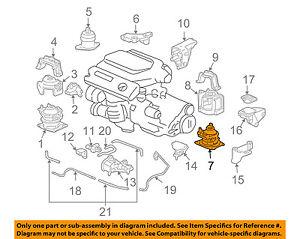 honda oem 03 07 accord engine motor mount torque strut 50810sdpa11 rh ebay com