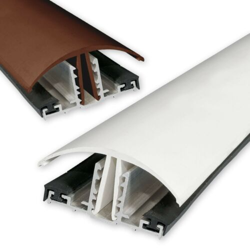 25mm Polycarbonate Timber Supported Snap Down Glazing Bar in **White** For 10mm