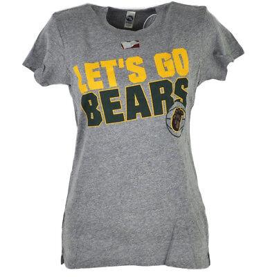Sport Warnen Ncaa Baylor Bären Lets Go Damen T-shirt Grau Meliert Rundhalsausschnitt Shirt üBerlegene Materialien Fanartikel