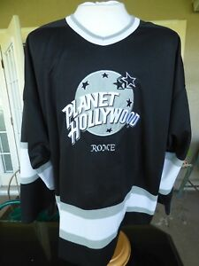 Rare-Vintage-90-039-s-Planet-Hollywood-Rome-Sewn-Lettering-Hockey-Jersey-Men-XXL