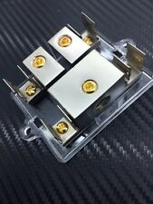 2pc 1 4-GAUGE IN 2 4-GAUGE OUT AGU FUSE DISTRIBUTION BLOCK DUAL POWER AMP H103N