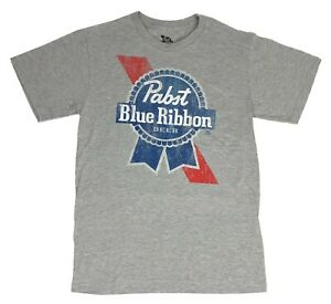 Pabst-Blue-Ribbon-Distressed-Logo-Graphic-Beer-Tee-PBR-Mens-T-Shirt