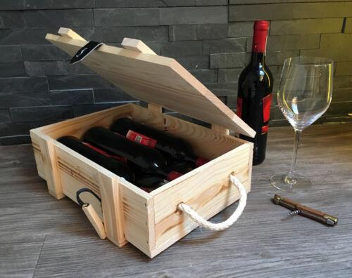 Weinkiste Holzkiste Holzbox Box Geschenkverpackung Natur Truhe Geschenk LW0012