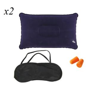 2 x viaggio dormire pacchetto cuscino gonfiabile tappi per for Tappi orecchie per dormire