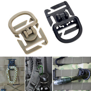 2//5Pcs Molle Strap Backpack Bag Webbing Connecting Buckle Clip EDC Outdoor /_UQßß