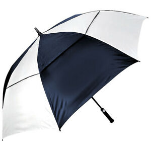 "Orlimar Golf Cyclone 62"" Double Canopy Umbrella,  Navy/White"